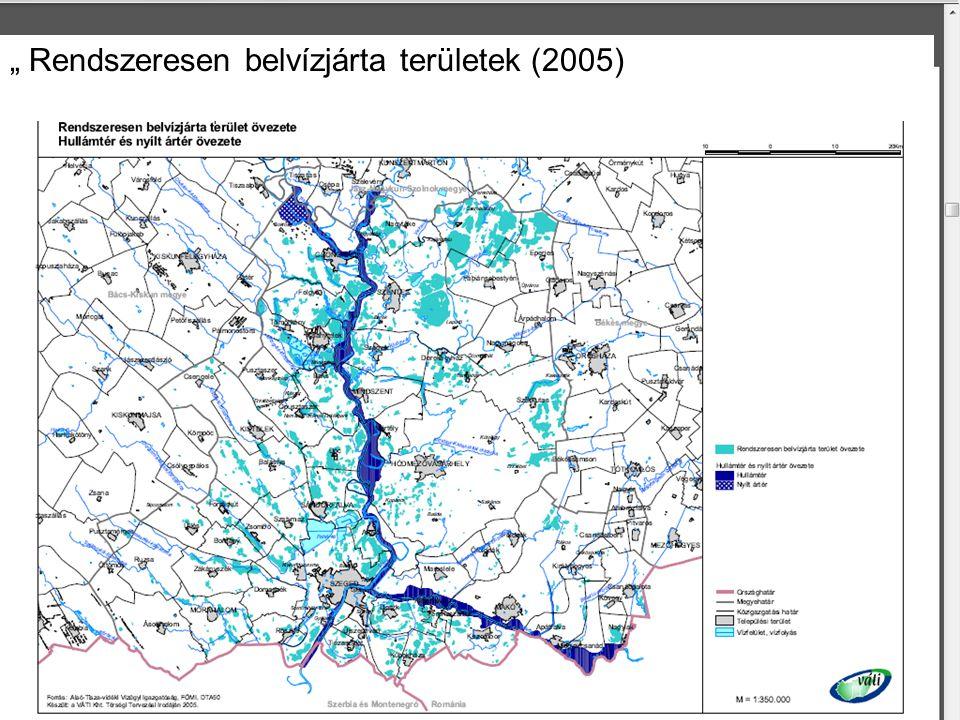 """"""" Rendszeresen belvízjárta területek (2005)"""