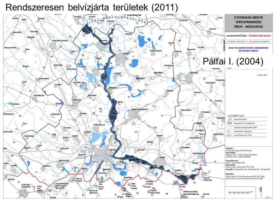 Rendszeresen belvízjárta területek (2011)