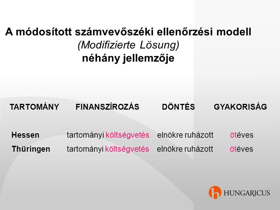 A módosított számvevőszéki ellenőrzési modell