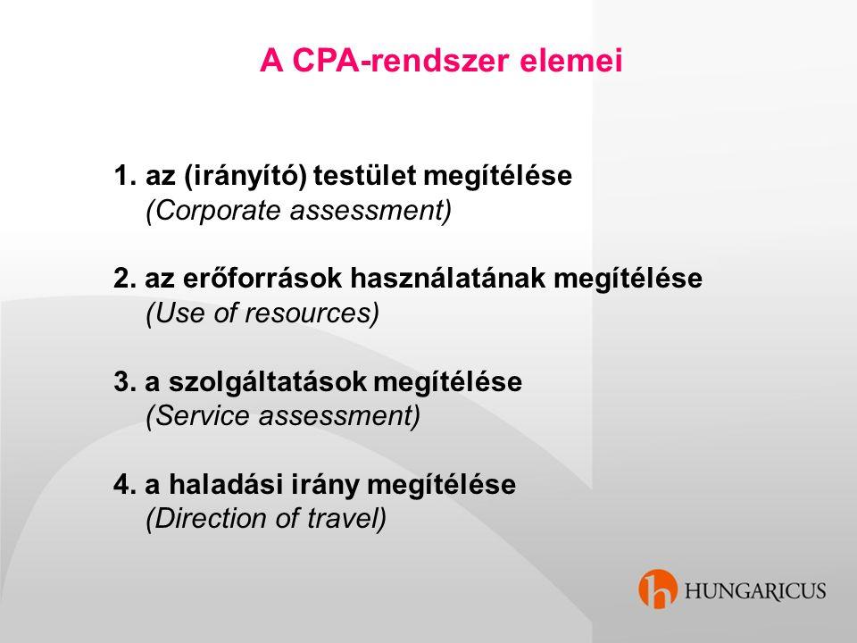 A CPA-rendszer elemei az (irányító) testület megítélése