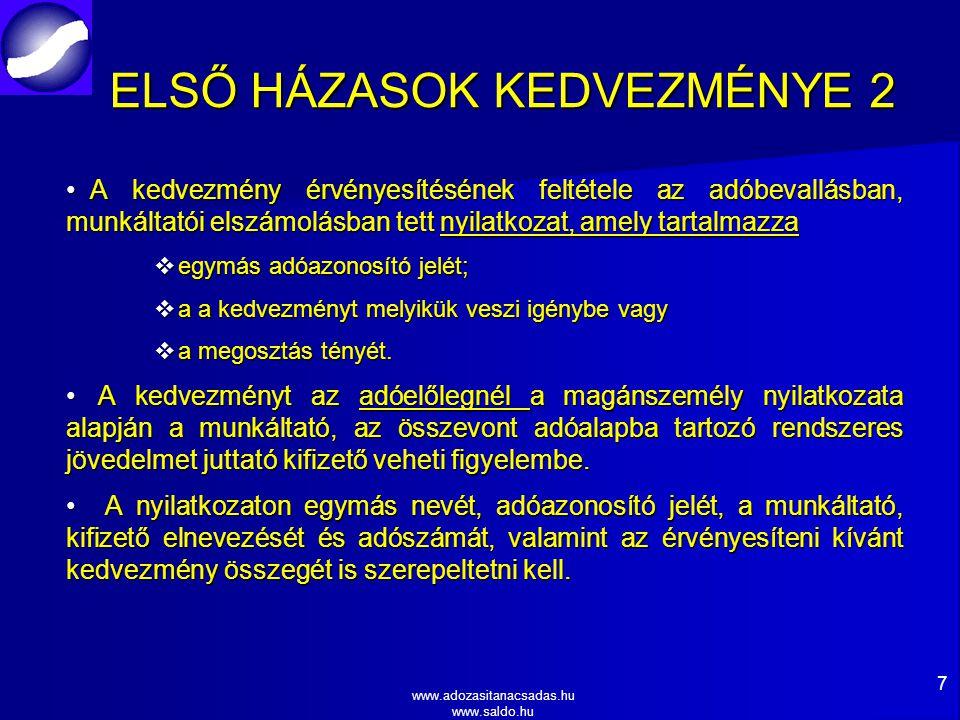 ELSŐ HÁZASOK KEDVEZMÉNYE 2