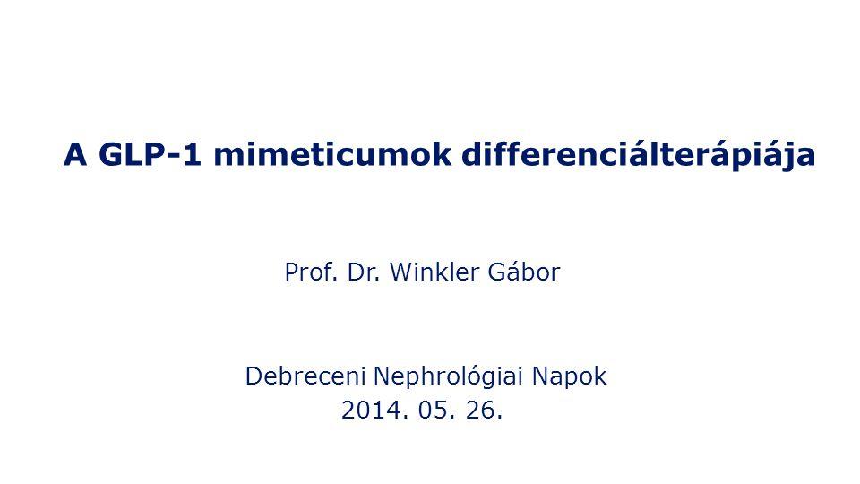 A GLP-1 mimeticumok differenciálterápiája