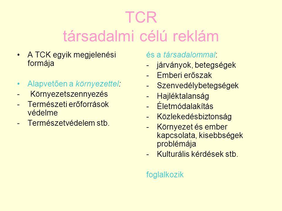 TCR társadalmi célú reklám