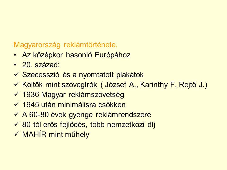 Magyarország reklámtörténete.