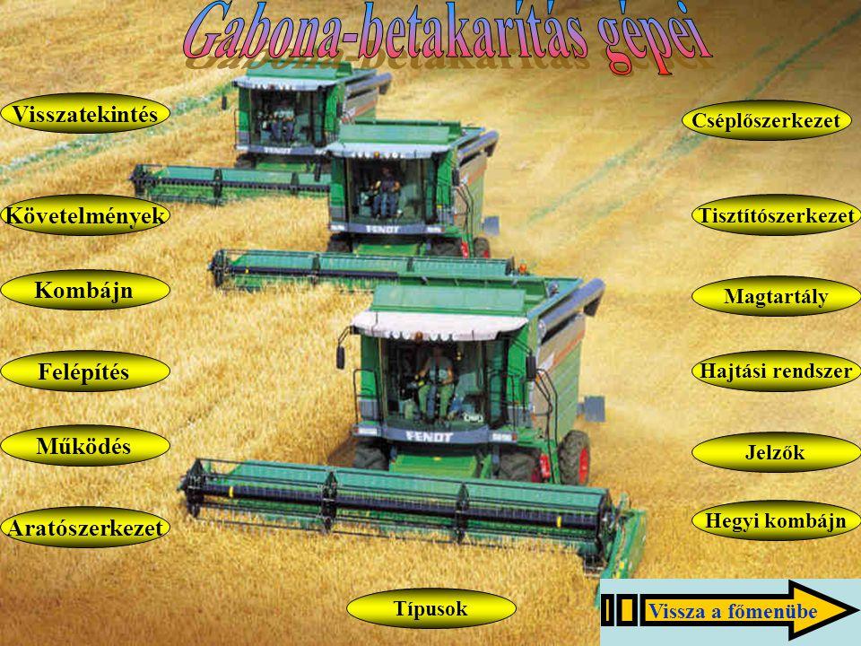 Gabona-betakarítás gépei
