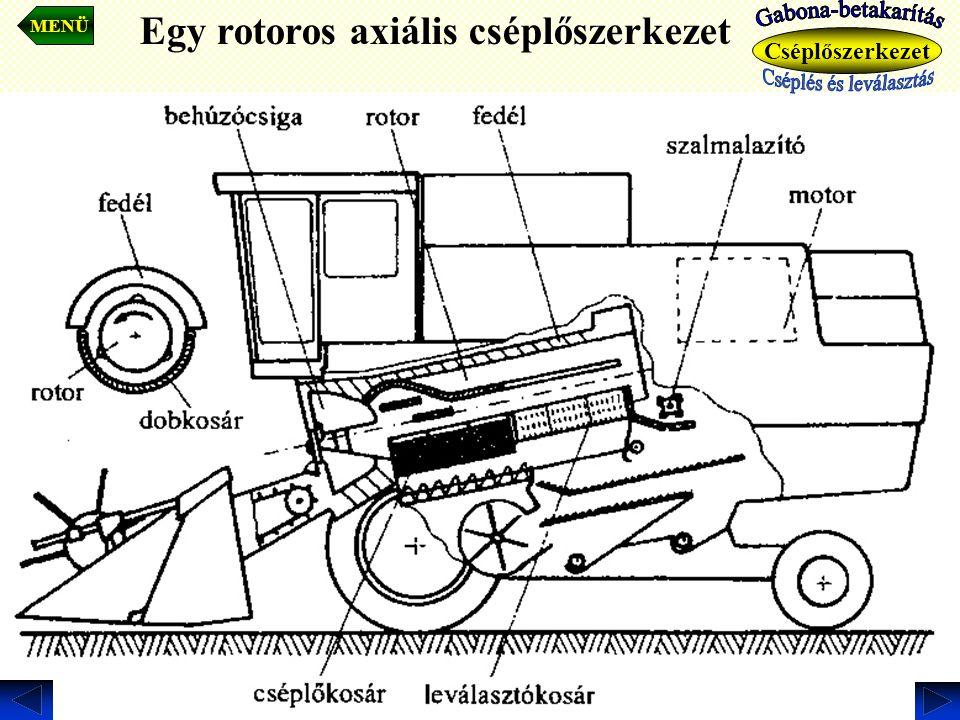 Egy rotoros axiális cséplőszerkezet