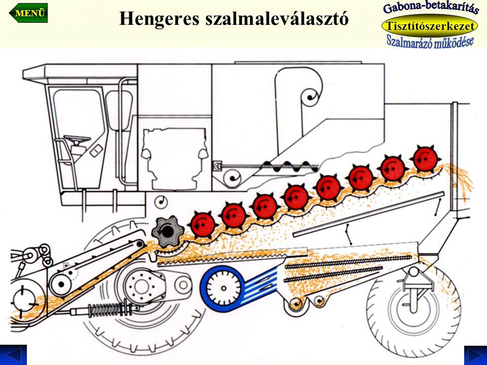 Hengeres szalmaleválasztó