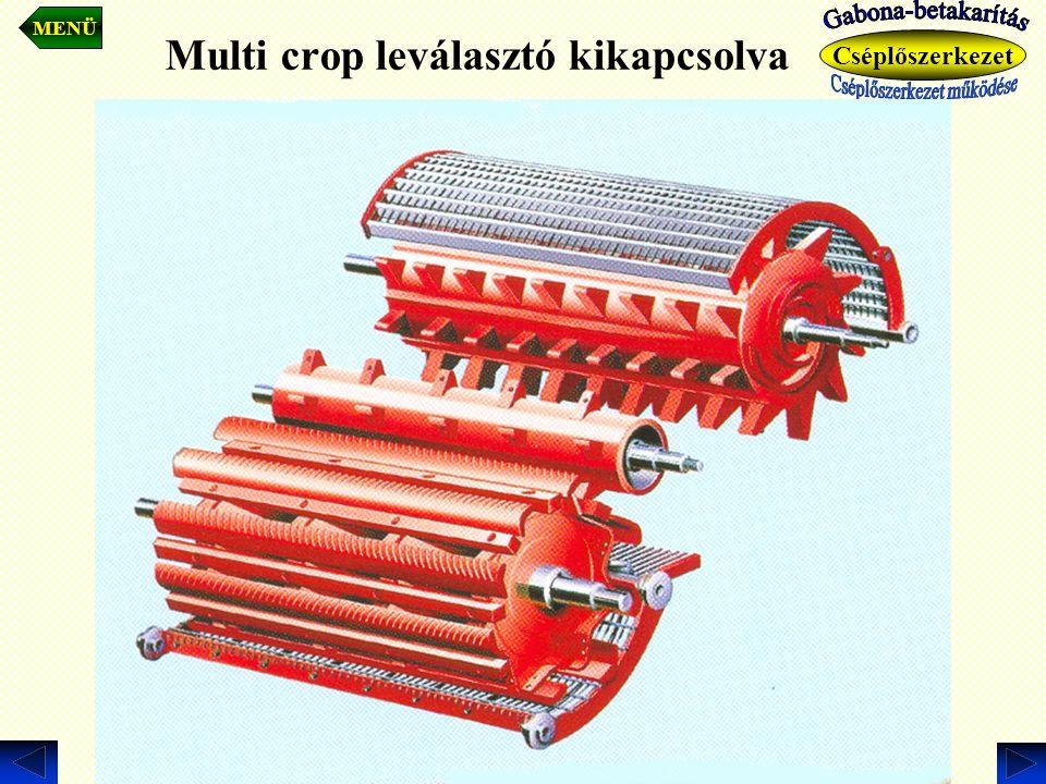Multi crop leválasztó kikapcsolva