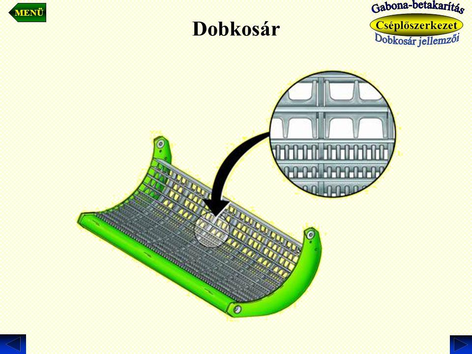 Dobkosár Gabona-betakarítás Gabona-betakarítás Cséplőszerkezet