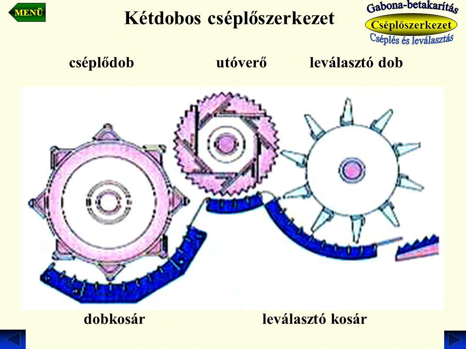Kétdobos cséplőszerkezet