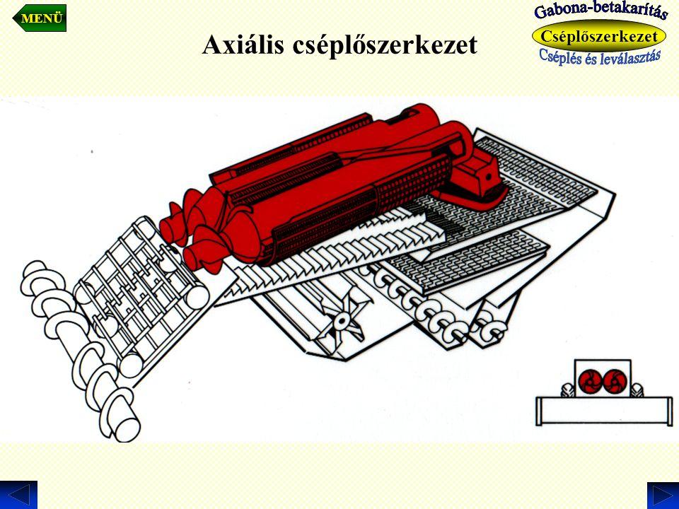 Axiális cséplőszerkezet