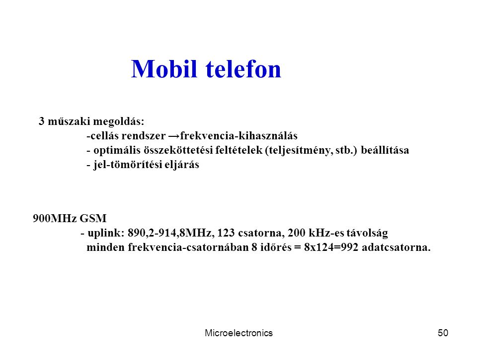 Mobil telefon 3 műszaki megoldás: