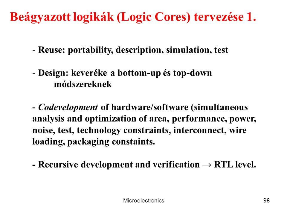 Beágyazott logikák (Logic Cores) tervezése 1.