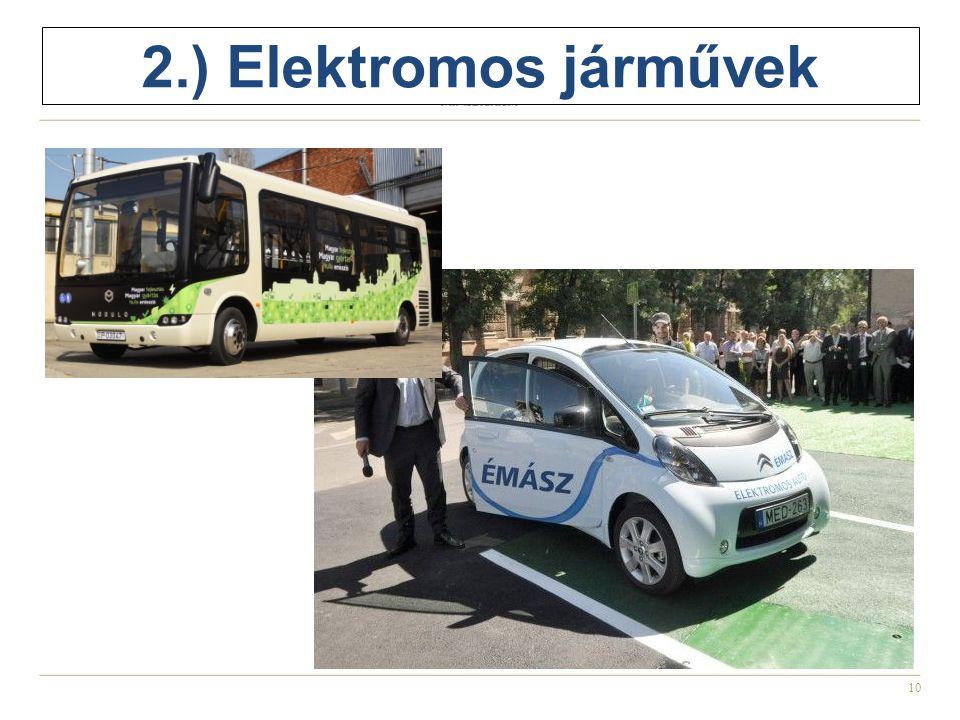 2.) Elektromos járművek