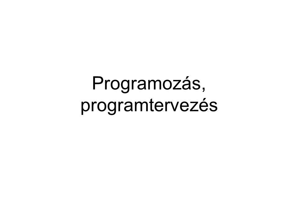 Programozás, programtervezés