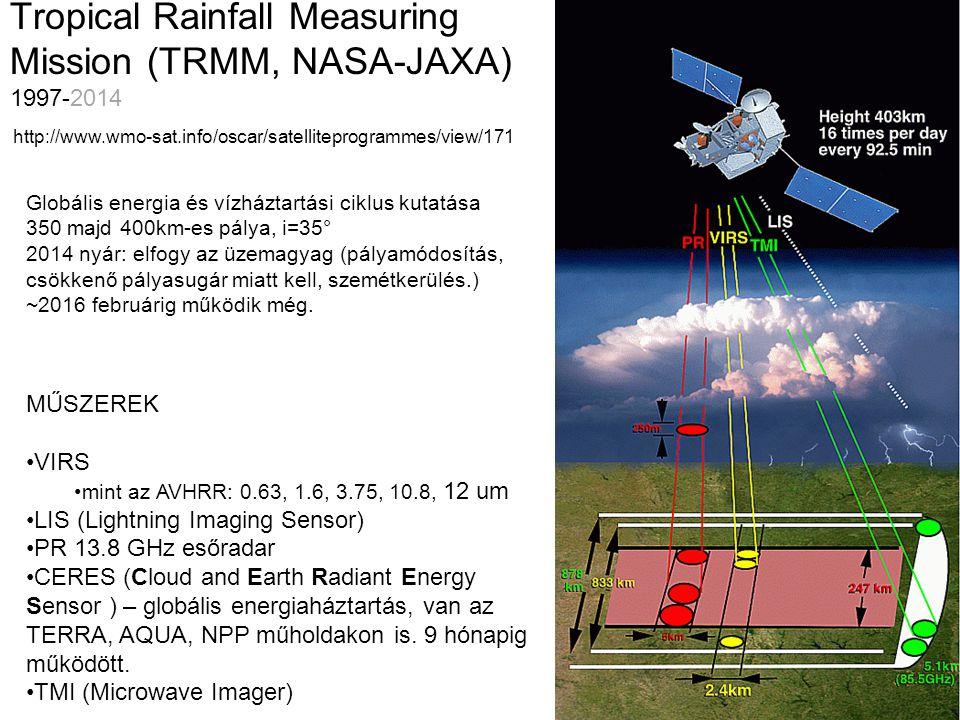 Tropical Rainfall Measuring Mission (TRMM, NASA-JAXA) 1997-2014