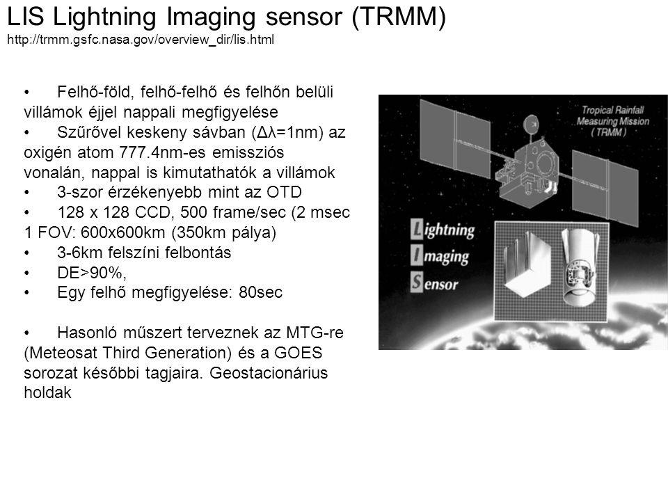 LIS Lightning Imaging sensor (TRMM) http://trmm. gsfc. nasa