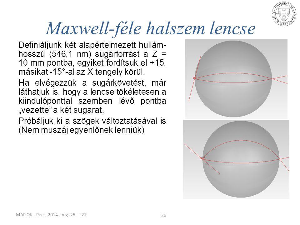 Maxwell-féle halszem lencse