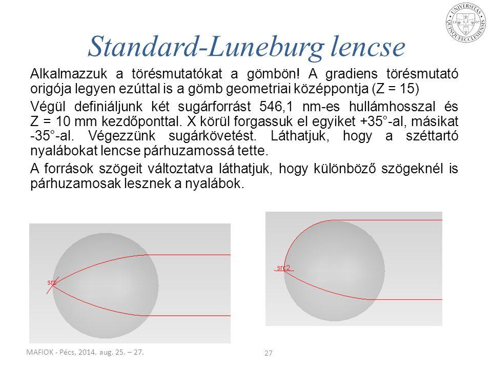 Standard-Luneburg lencse