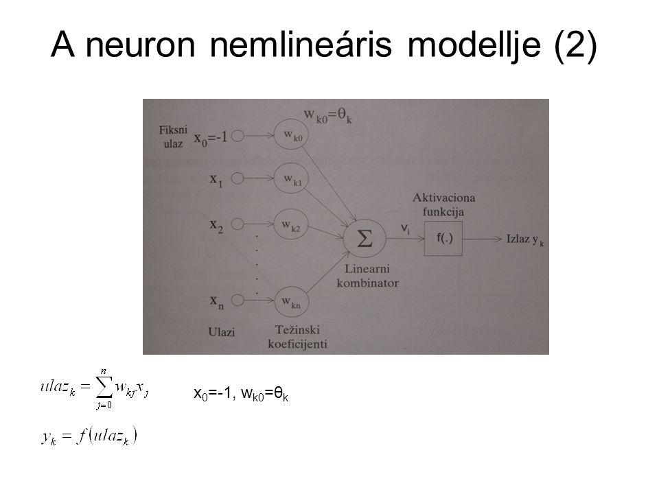 A neuron nemlineáris modellje (2)