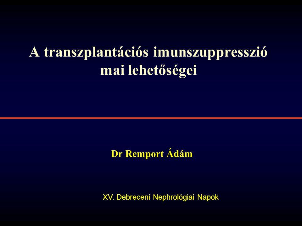 A transzplantációs imunszuppresszió mai lehetőségei