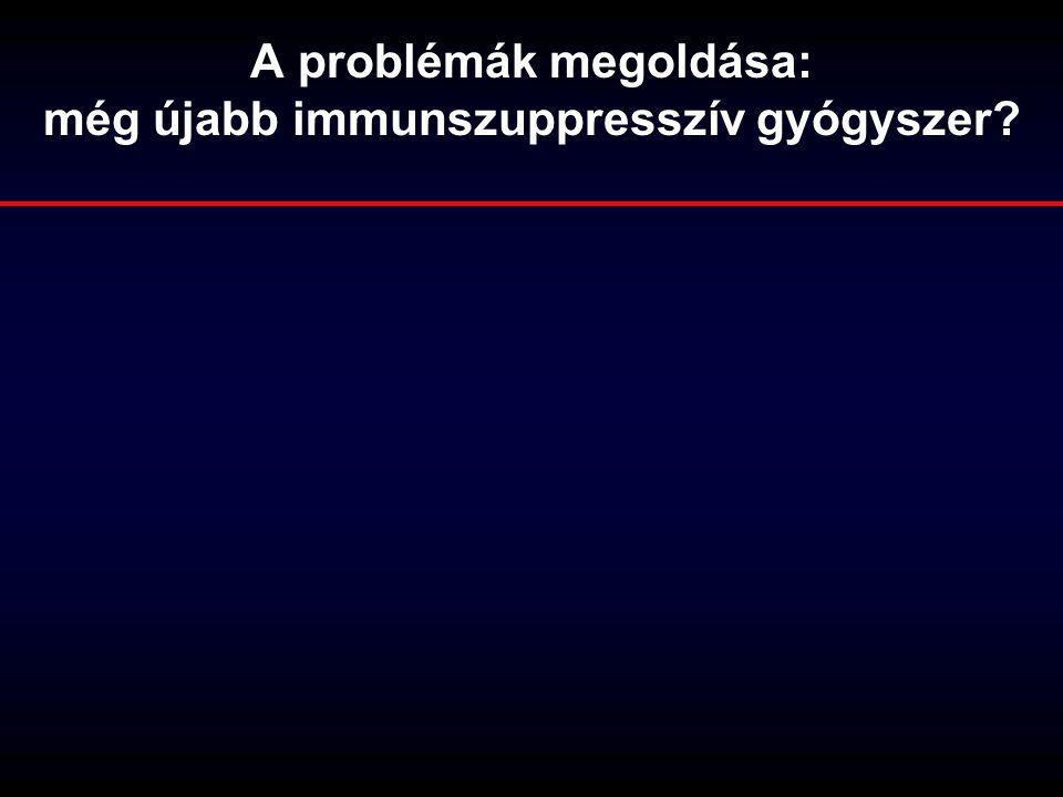 A problémák megoldása: még újabb immunszuppresszív gyógyszer