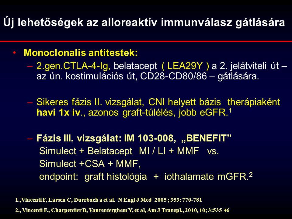 Új lehetőségek az alloreaktív immunválasz gátlására