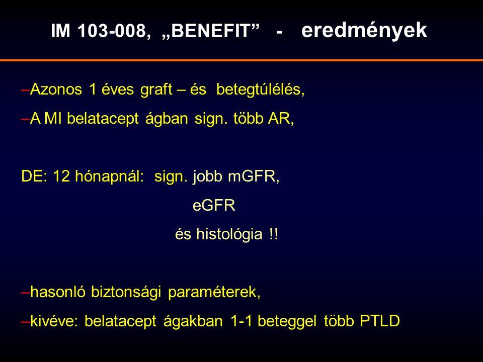 """IM 103-008, """"BENEFIT - eredmények"""