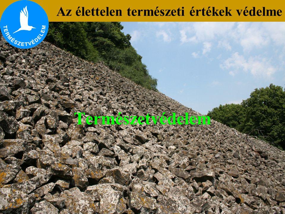Az élettelen természeti értékek védelme