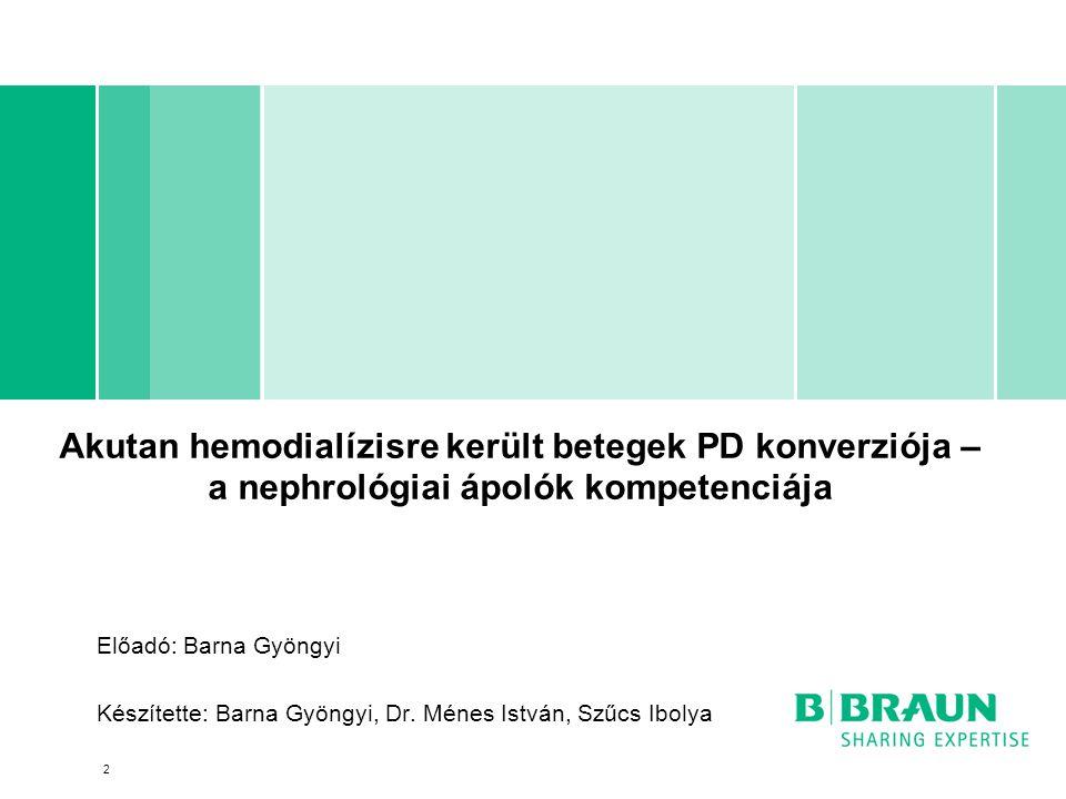 Akutan hemodialízisre került betegek PD konverziója – a nephrológiai ápolók kompetenciája