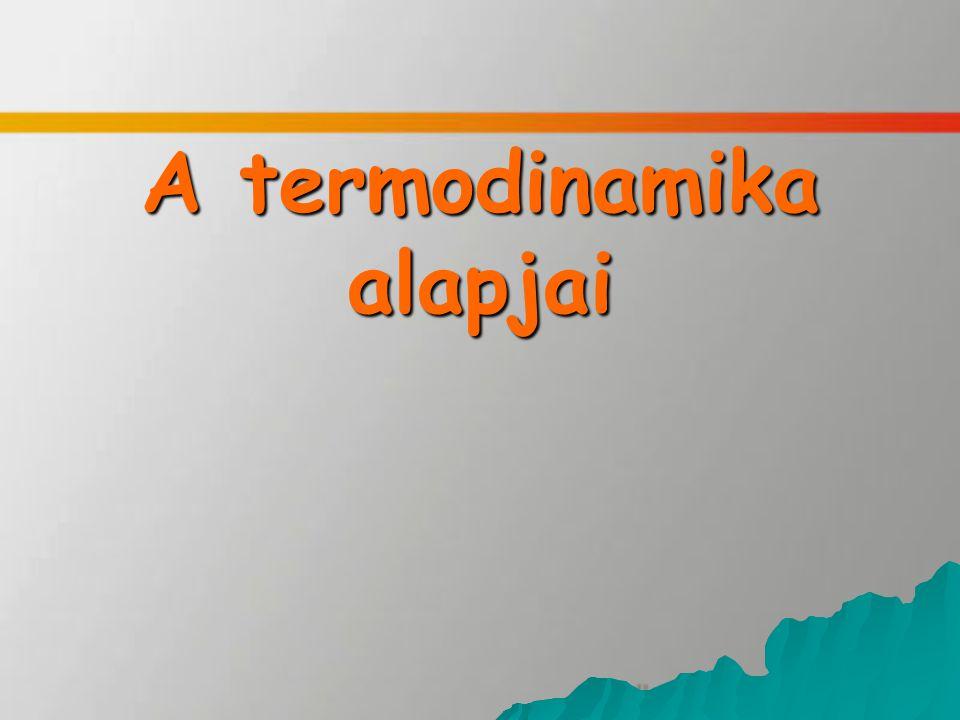 A termodinamika alapjai