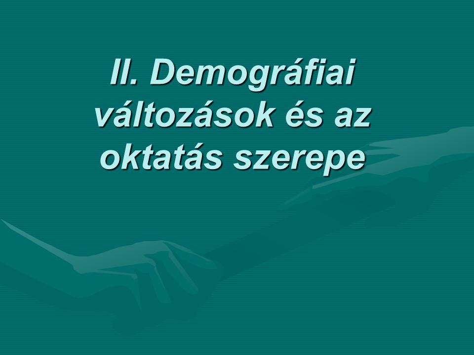 II. Demográfiai változások és az oktatás szerepe