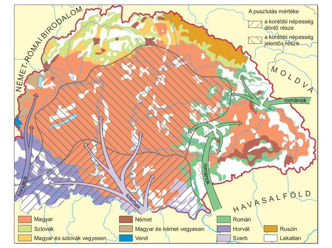 Népesedési és etnikai változások Magyarországon a XVI-XVII. században