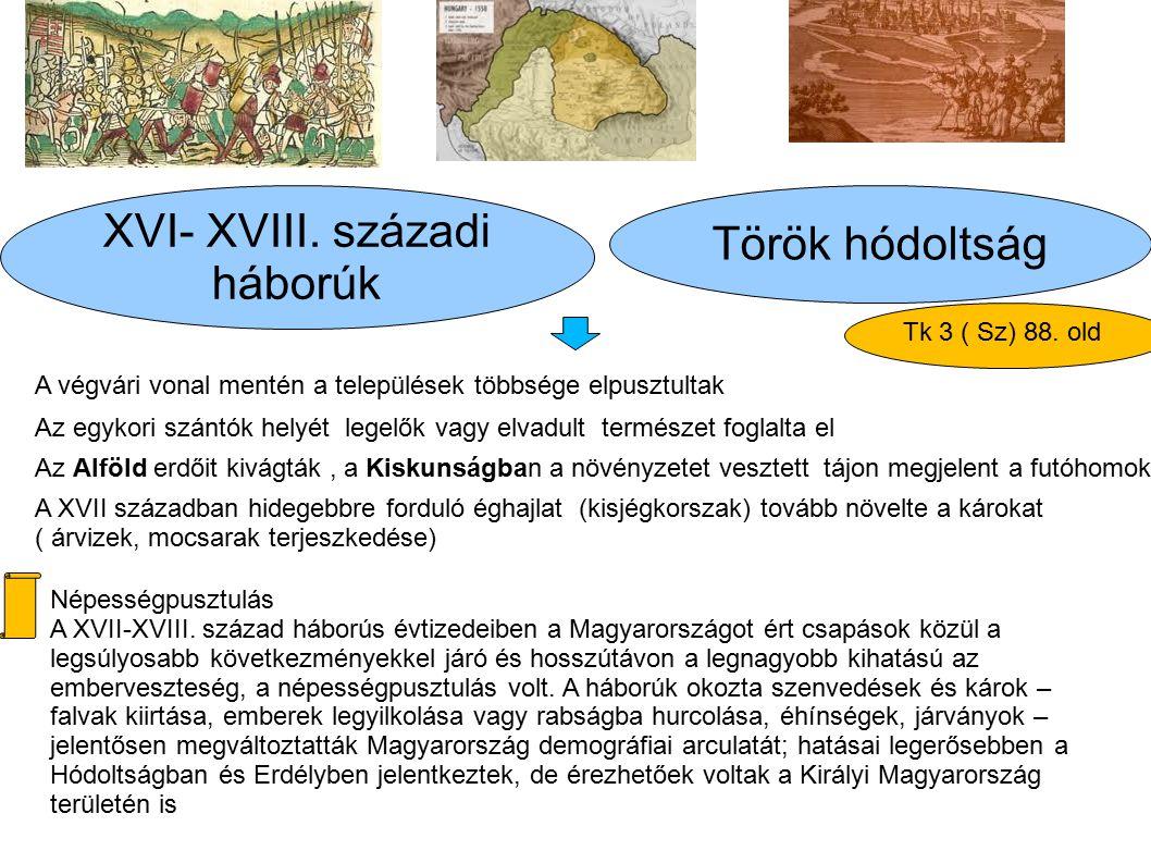XVI- XVIII. századi Török hódoltság háborúk Tk 3 ( Sz) 88. old