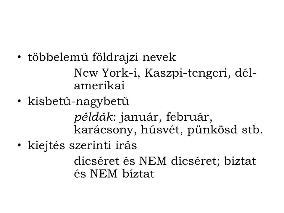többelemű földrajzi nevek