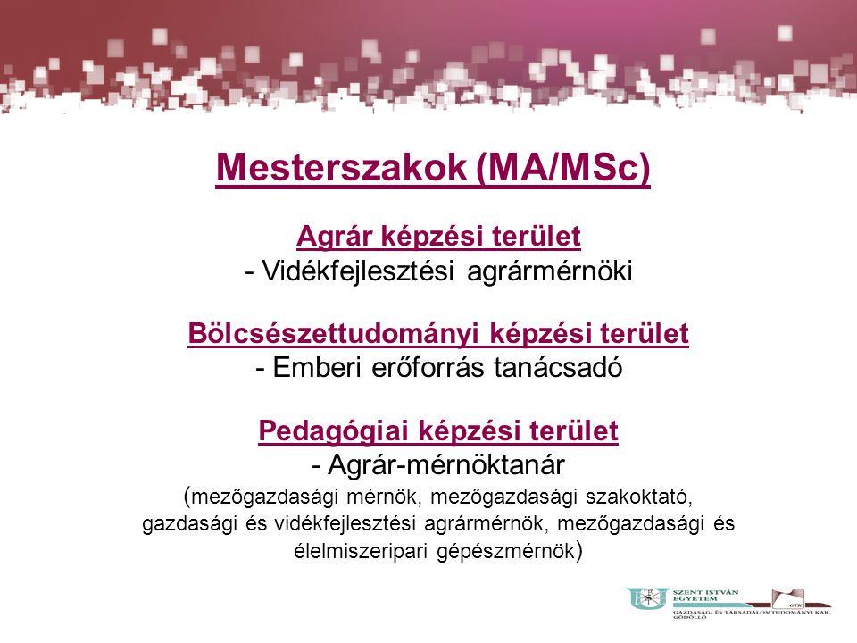 Mesterszakok (MA/MSc)