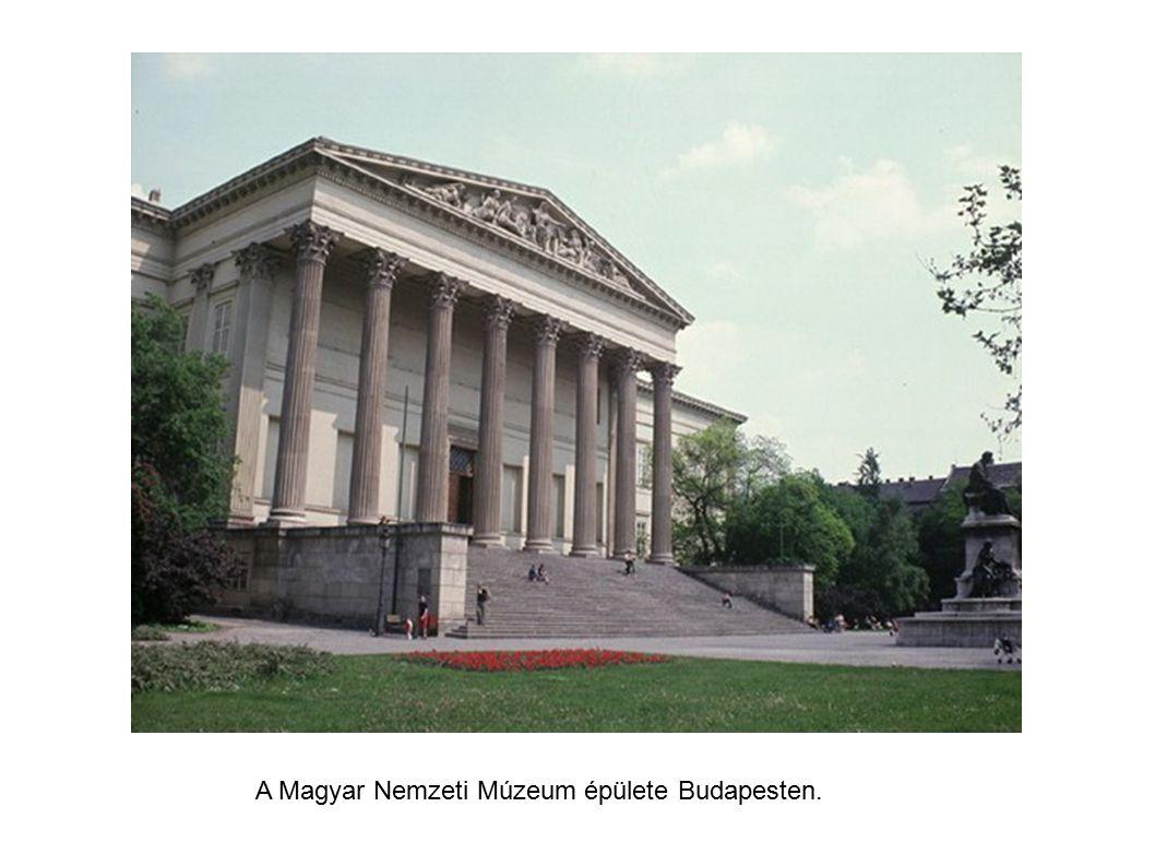 A Magyar Nemzeti Múzeum épülete Budapesten.