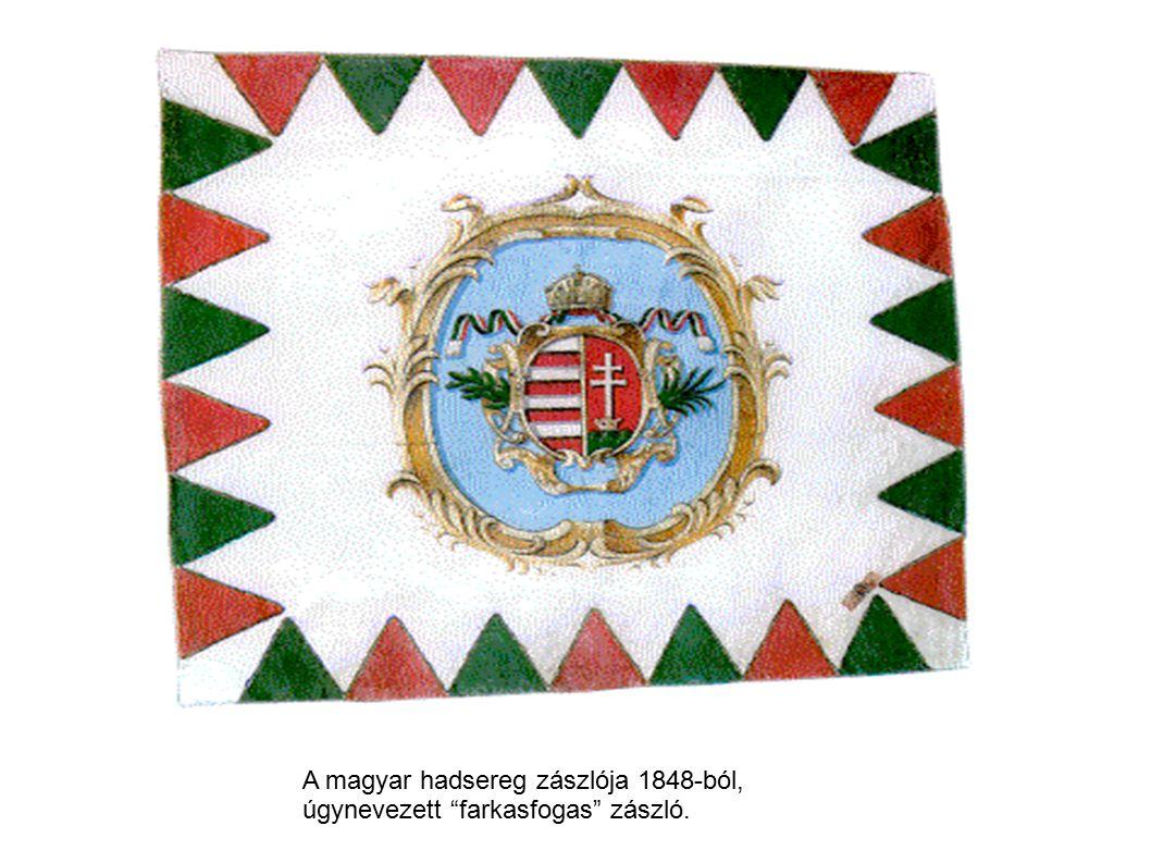 A magyar hadsereg zászlója 1848-ból,