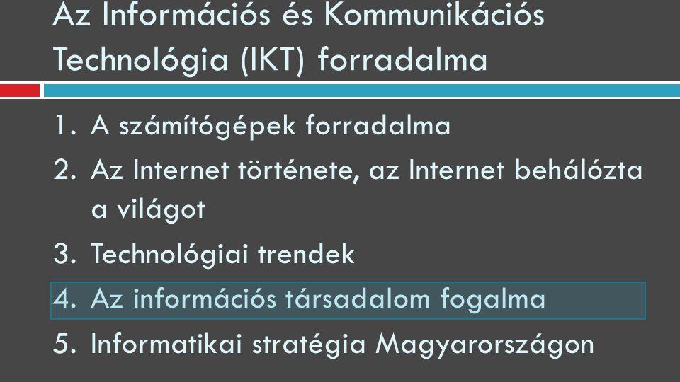 Az Információs és Kommunikációs Technológia (IKT) forradalma