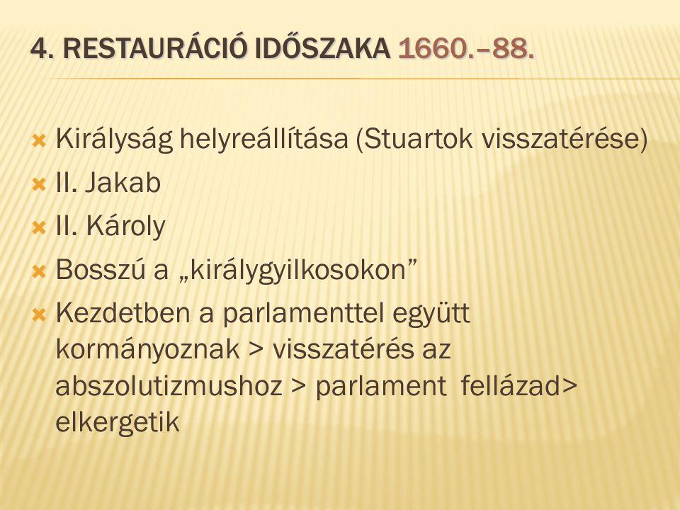 4. restauráció időszaka 1660.–88.
