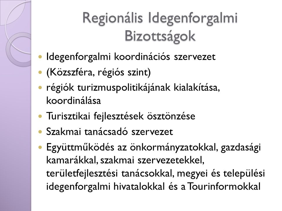 Regionális Idegenforgalmi Bizottságok