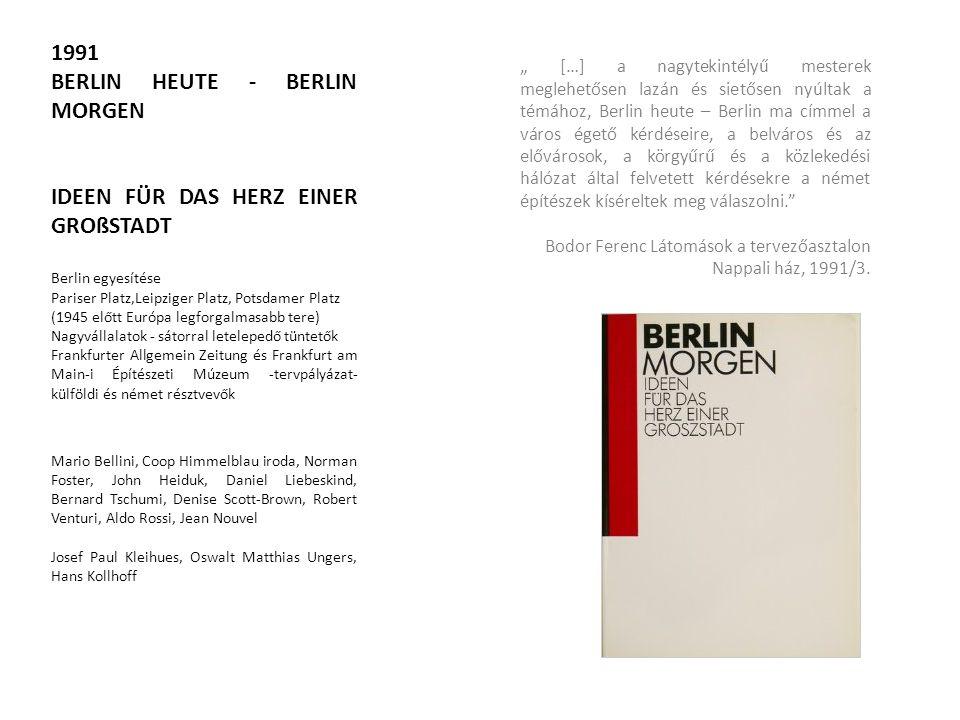 BERLIN HEUTE - BERLIN MORGEN