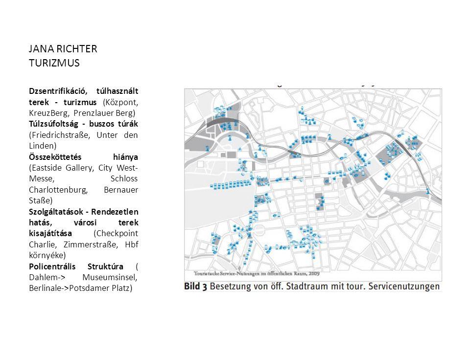 JANA RICHTER TURIZMUS. Dzsentrifikáció, túlhasznált terek - turizmus (Központ, KreuzBerg, Prenzlauer Berg)