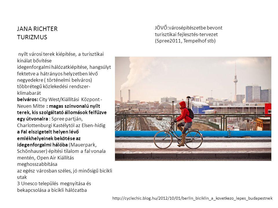 JANA RICHTER TURIZMUS. JÖVŐ:városépítészetbe bevont turisztikai fejlesztés-tervezet (Spree2011, Tempelhof stb)