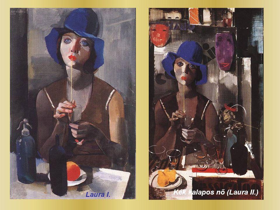 Kék kalapos nő (Laura II.)