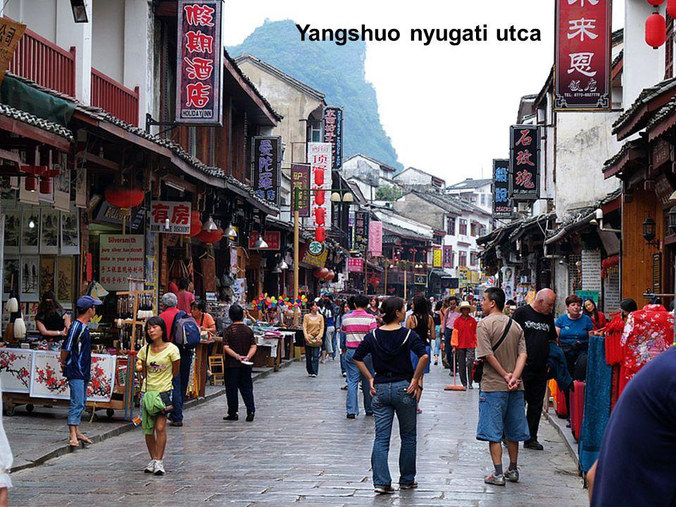 Yangshuo nyugati utca