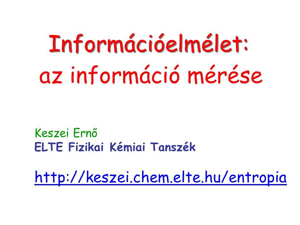 Információelmélet: az információ mérése