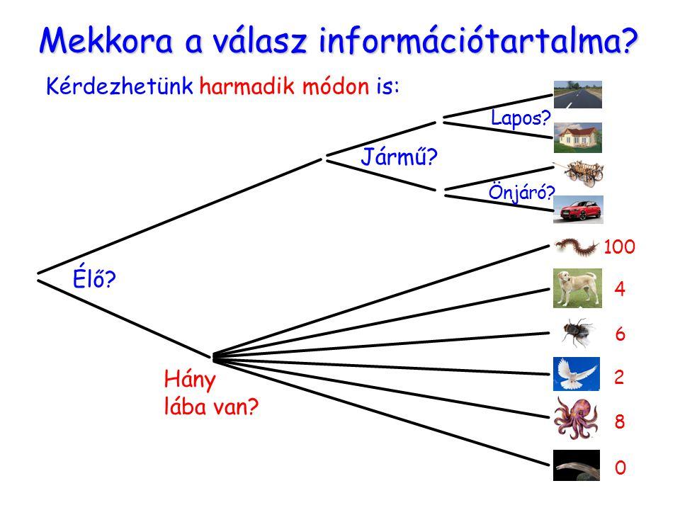 Mekkora a válasz információtartalma