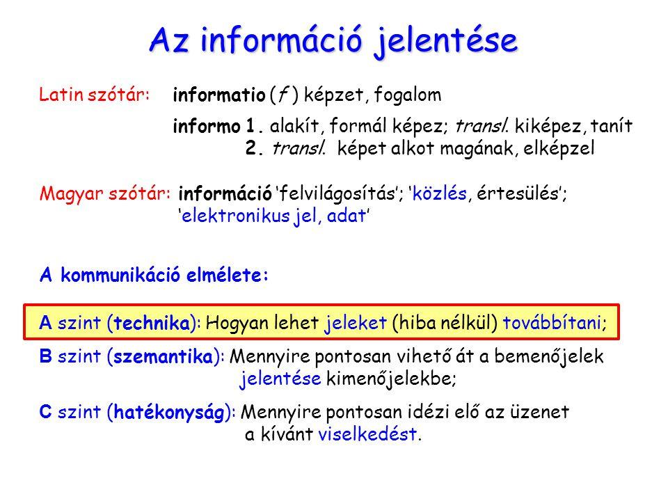 Az információ jelentése
