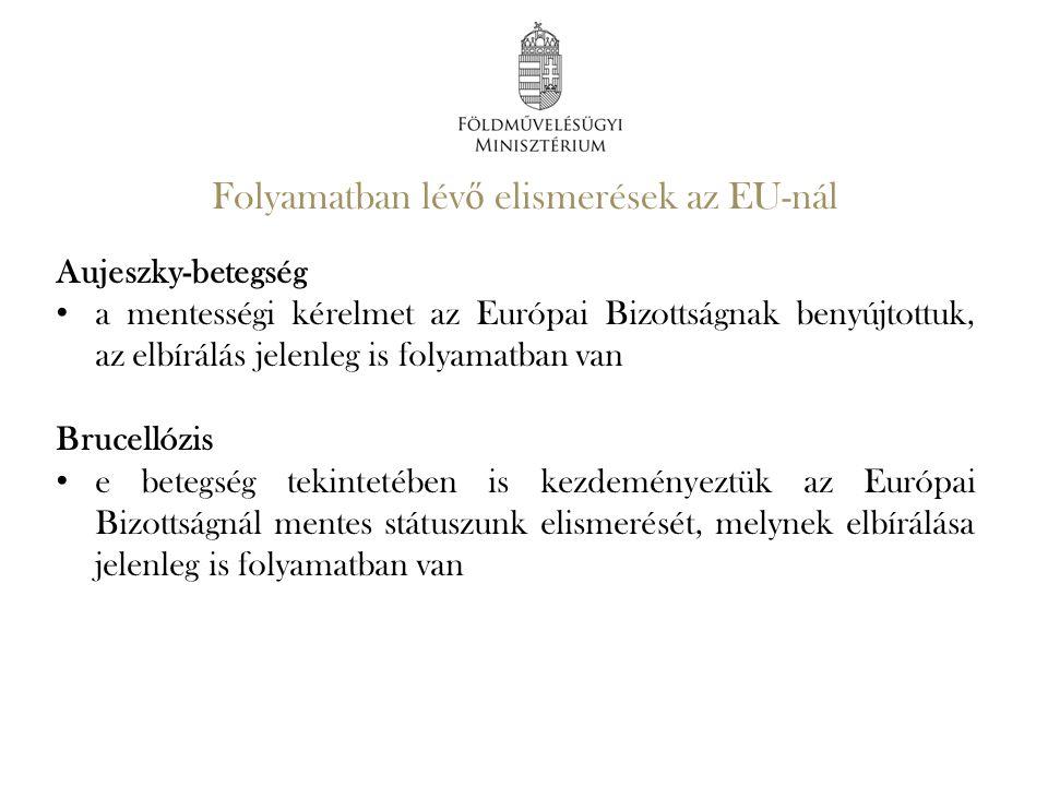 Folyamatban lévő elismerések az EU-nál